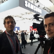 video crew at mobile world congress